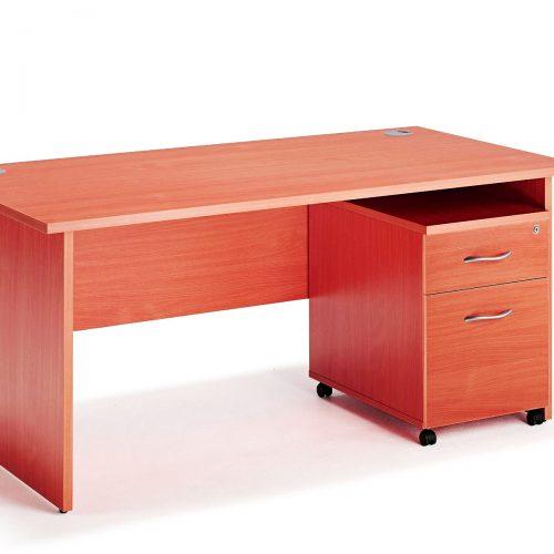 Escritorio de Oficina Color Full Cherry AC 180 cms con Gavetero 2 cajones